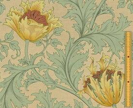 moda fabrics(モダ・ファブリックス)William Morris ウィリアムモリス シーチング生地<Anemone>(アネモネ)<SAGE(セージ)>8217-31