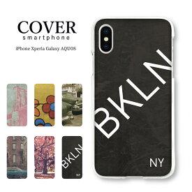 NY ニューヨーク ブルックリン レトロ スマホケース iPhone XS MAX iPhoneXR ケース ハードカヴァー Xperia Galaxy AQUOS iPhone X iPhone8 iPhone8plus iPhonese iPhone8 iphone8plus iphone7 iPhone7 plus iphone6 iphone6s ハードケース