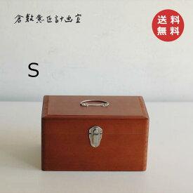 救急箱 Sサイズ 倉敷意匠計画室 ツガ材 メディスンボックス シンプル救急箱 救急箱 木箱 かわいい ナチュラル くすり箱 クスリ箱 おしゃれ 【あす楽対応】