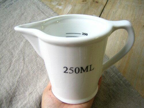 計量カップ メジャージャグ 250ml ダルトン DULTON /ホワイト メジャージャグ 計量スプーン キッチン雑貨 キッチンツール 調理器具 シンプル ジャグ セラミック【あす楽対応】