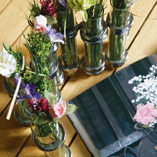 ダルトン リンクチューブベース シルバー DOULTON フラワーベース/木/花/フラワー/フラワーグラス/花瓶 ガラス/ガラスベース/シンプル/おしゃれ 置物/北欧/花器/インテリア雑貨/インテリア Link tube vase