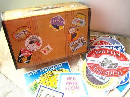ラベルステッカー Luggage / OLD STATES ダルトン DULTON ラベル ステッカー シール トランク ラゲッジ おしゃれ ホテル