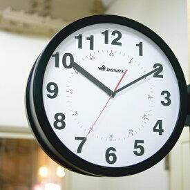 DULTON/ダルトン ダブルフェイス ウォールクロック アイボリー ブラック シルバー 時計 両面時計 掛け時計 両面 ウォールクロック BONOX ボノックス 壁掛け時計 おしゃれ かわいい 大きい 大型 業務用 見やすい アナログ カフェ S82429
