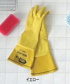 WASHERS ラバーグローブ イエロー グリーン オレンジ レッド ブルー ブラック ゴム手袋 ロング 厚手 キッチングローブ 長い 食器洗い 手荒れ防止 掃除 家事 洗車 かわいい