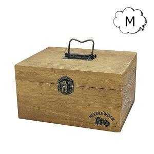 5%OFFクーポン配布中 NEEDLEWORK ウッドソーイングボックス Mサイズ A319 木製救急箱 ソーイング 裁縫箱 収納 ボックス 救急箱 コスメ メイク ツール パッチワーク キルト シンプル 救急箱/救急箱/