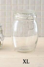 グラスジャー スパイスポット XL ガラスジャー ストッカー ガラス容器 ガラスキャニスター 保存瓶 ガラス保存容器 アンティーク 調味料容器 おしゃれ キッチン 台所 キャニスター キッチン用品 食器 キッチンストッカー おしゃれ シュガー ソルト 調味料入