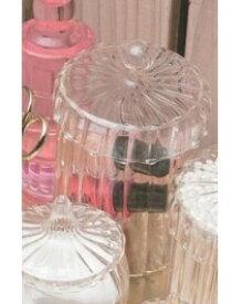 Marlene キャニスター L 小物入れ ガラス コットンケース キャニスター キャンディーポット ガラスポット ポプリ アクセサリー ディスプレイケース ガラスケース インテリア雑貨 おしゃれ かわいい 乙女 洗面所 玄関 収納