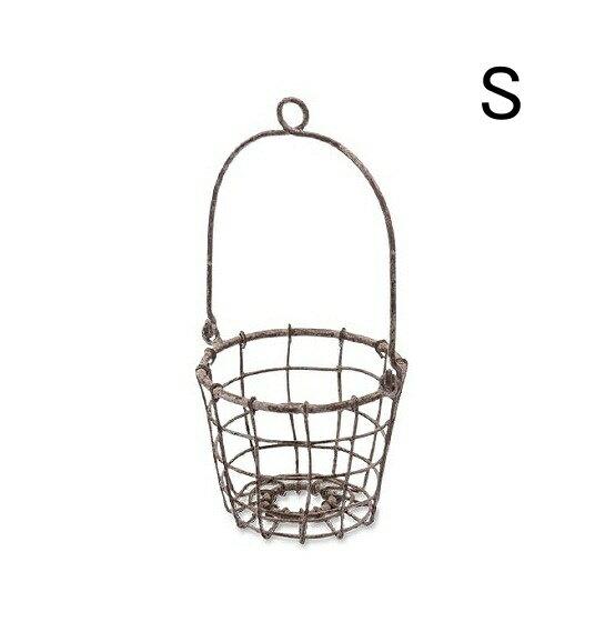 ハンギングポットカバー Sサイズ 3号鉢対応 アンティーク風 ハンギング ウォールバスケット 鉢カバー ポット 鉢 アイアン製 プランター 置物 壁掛け 可愛い かわいい オシャレ おしゃれ 鉢 ミニポット ガーデン エクステリアガーデン雑貨 壁掛け