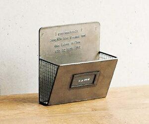 ¥ゲシュマック カードラック 1段 GFA609 ブリキ カードラック1 アンティーク風 ゲシュマック 壁掛け インテリア レターホルダー 手紙 ハガキ カード ディスプレイ