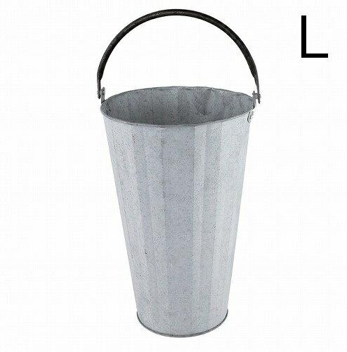 ノルマンディ フラワーポット Lサイズ 鉢カバー ブリキポット 鉢 ブリキ鉢 植木鉢 ブリキポット プランター ガーデニング雑貨 アンティーク 鉢カバー おしゃれ かわいい