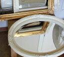1,000円OFFクーポン配布中 ANCIENT MIRROR OVAL Lサイズ ミラー 円形 丸型 アンティーク 鏡 鏡 ミラー 壁掛け ウォー…
