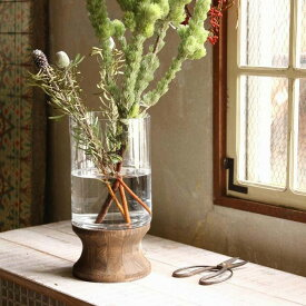 BOLD フラワーベース スタンド 花瓶 木 ウッド 大きいDGGZ1030 フラワーベース/木/花/フラワー/フラワーグラス/花瓶 ガラス/ガラスベース/シンプル/おしゃれ 置物/北欧/花器/インテリア雑貨/インテリア