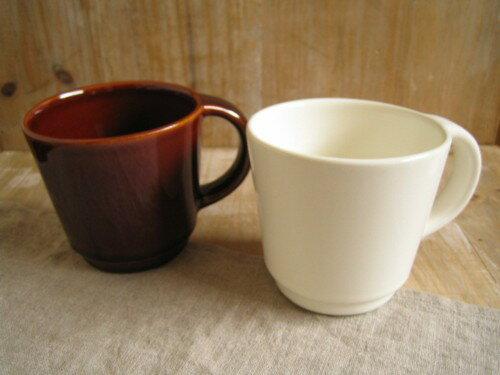 スタジオエム(スタジオM) ヴァリエ マグカップ ホワイト/アメ色 日本製 白い食器 陶器 マグカップ マグ カップ コーヒーマグ かわいい マグ コップ 洋食器 食器 インテリア かわいい おしゃれ 新生活 ギフト 台所 スープカップ インテリア 雑貨