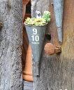 アンティーク風 ティンハンギング漏斗B azi-azi アジアジ 壁掛けプランター ガーデン 雑貨 ハンギング ポット 漏斗 ろうと じょうご ガーデニング雑貨