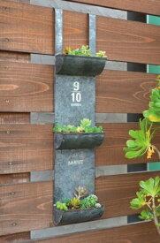 アンティーク風 ティントリプルポケット azi-azi アジアジ 壁掛けプランター ガーデン 雑貨 ハンギング ポット ガーデニング雑貨