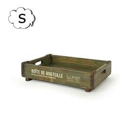 シャビーウッドボックス Sサイズ AZ-1288 アンティーク風 azi-azi アジアジ ガーデンボックス ウッドボックス 木箱 木製収納ボックス カントリー雑貨 古木 インテリア雑貨 整理