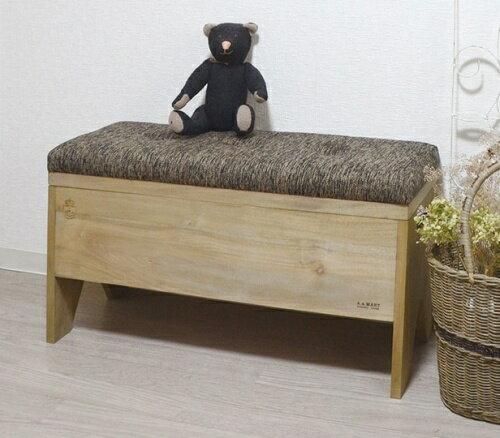 アンティーク風 ボックスベンチ 木製 ベンチ スツール 椅子 イス いす 収納【送料無料】