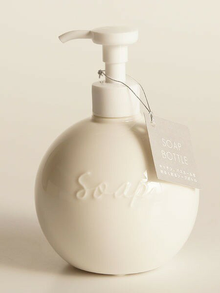 【Orb】ソープボトル ディスペンサー オーブ ラウンド 丸 陶器 日本製 ソープディスペンサー ロロ LOLO