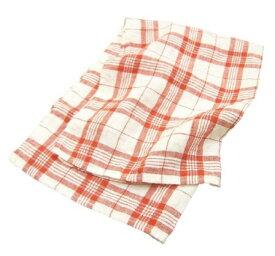 キッチンタオル リネン チェック ホワイト レッド キッチンクロス キッチンワイプ 布巾 ふきん 台拭きスポンジワイプ