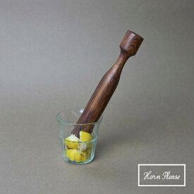 ウッド ドリンク マッシャー 製 シーシャムウッド Horn Please 志成販売 木製 すり鉢 すり棒 すりこぎ棒 303079