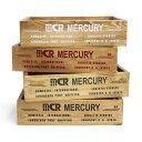 5%OFFクーポン配布中 mercury マーキュリー ウッドクレート ホワイト カーキ ブラック レッド 小物整理 木箱 収納 ボックス BOX ウッドボックス おしゃれ かわいい インテリア雑貨
