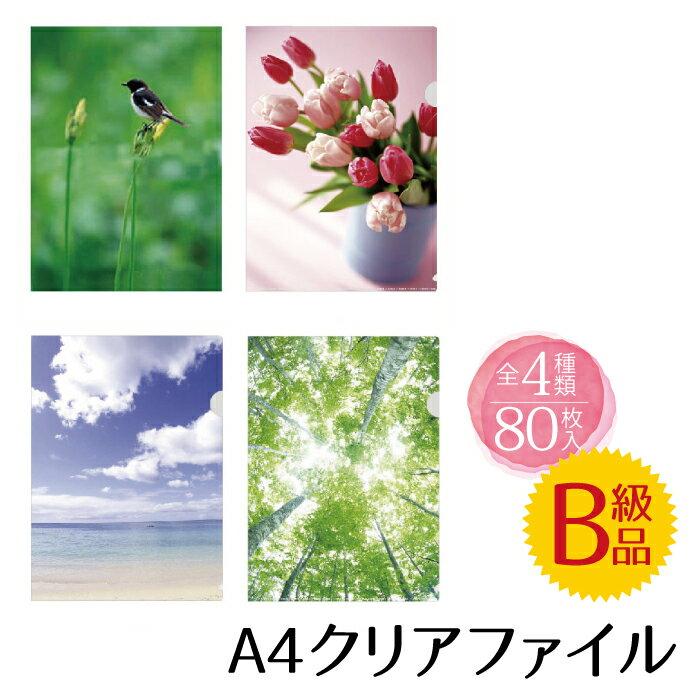 【訳アリ!】クリアファイル4枚組80枚セット【のし・包装不可】