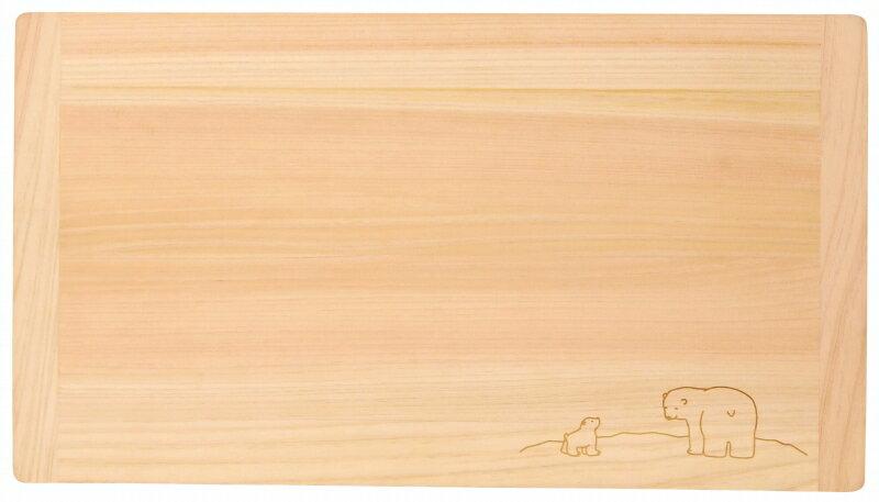 まな板 ひのき 36cm しろくまの刻印