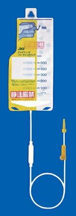 ジェイフィード フィーディングバッグ (DEHPフリー) バックタイプ 500ml 20本/箱 JF-FA050Q 経口用イルリガードル JMS