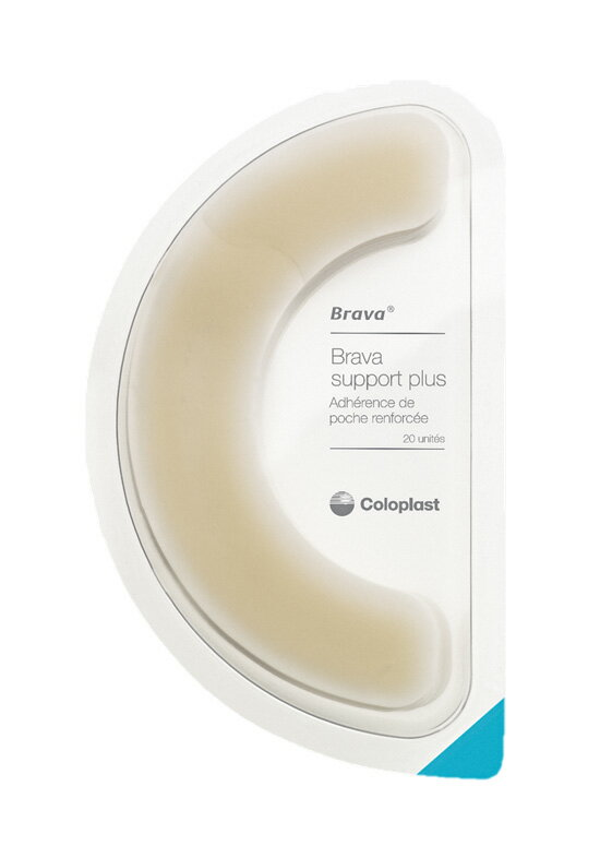 ブラバ 伸縮性皮膚保護テープ 12070 幅3cm 直径14cm 20枚入 コロプラスト【条件付返品可】