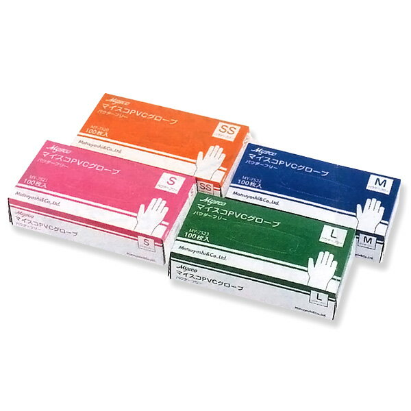 マイスコ PVCグローブ パウダーフリー Mサイズ MY-7522 1箱100枚入 マイスコ