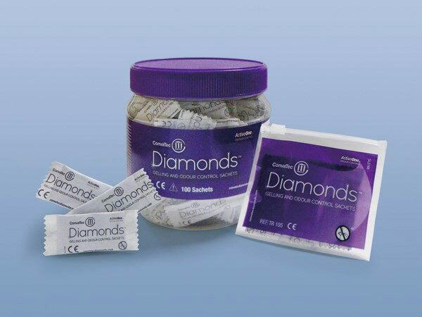 ダイヤモンド 消臭・吸収ゲル化剤 420791 携帯用ジップロック1枚入 1箱100個入り コンバテック【条件付返品可】