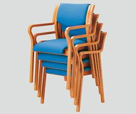 木製椅子(ビニールレザー張りタイプ) 角背 ブルー MW-310 (VG1)PBU 1個【返品不可】
