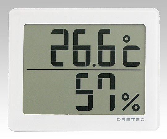 ソーラーデジタル温湿度計 ホワイト O-226WT 1個【条件付返品可】