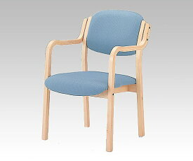 立ち上がりに便利な椅子 (アイリス) (深型/520x590x800mm/ブルー) IRS-150-V ブルー 1脚【返品不可】