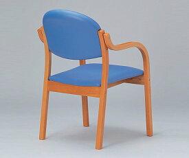 木製椅子(ビニールレザー張りタイプ) ブルー MW-320PBU 1脚【返品不可】