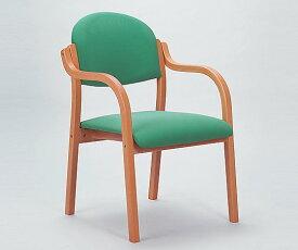 木製椅子(ビニールレザー張りタイプ) グリーン MW-320GN 1脚【返品不可】
