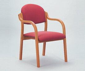 木製椅子(ビニールレザー張りタイプ) ローズ MW-320RO 1脚【返品不可】