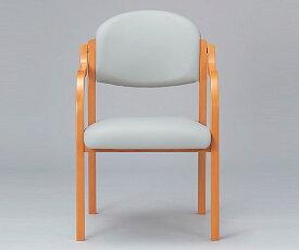 木製椅子(ビニールレザー張りタイプ) グレー MW-320LGR 1脚【返品不可】