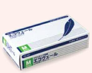 プラスチック手袋(パウダーフリー)エコヴェール YG-500-2 Mサイズ 100枚/箱【条件付返品可】
