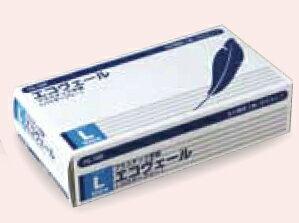 プラスチック手袋(パウダーフリー)エコヴェール YG-500-3 Lサイズ 100枚/箱【条件付返品可】