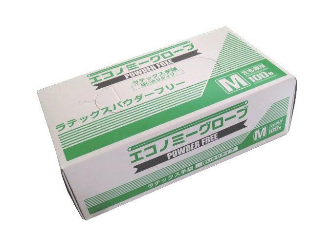 ラテックス手袋 エコノミーグローブ ラテックスパウダーフリー(粉なし) Mサイズ YG-300-2 100枚/箱【条件付返品可】