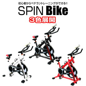 【10%OFFクーポン配布中】 フィットネスバイク スピンバイク トレーニングバイク エクササイズバイク エクササイズ 室内用 サイクルトレーニング ルームバイク スピナーバイク スピニングバイク商品