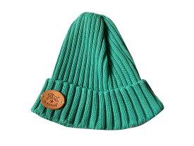 イルビゾンテ ILBISONTE ニット帽 サマーニットキャップ コットンリネン グリーン