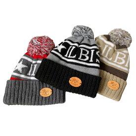 イルビゾンテ ニット帽 ロゴ ニットキャップ ボンボン付き 男女兼用
