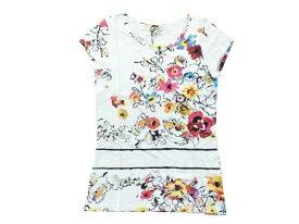 ジュニアゴルチェ ジャンポール ゴルチェ 16a(大人Sサイズ位) IDEM カットソー Tシャツ カラフル花柄プリント