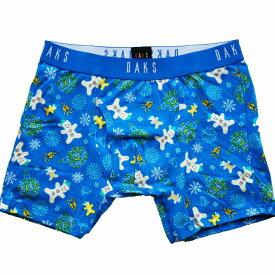 【条件付き 送料無料】サイズ M スノーマン柄 ブルー系 【 メンズ 】【ボクサー パンツ】