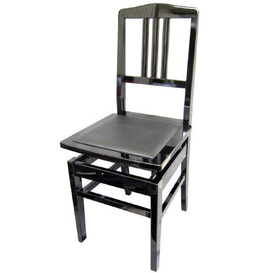 【送料無料】日本製:ピアノ椅子 背もたれ付きタイプ トムソン椅子:NO.5BLK(黒)-New