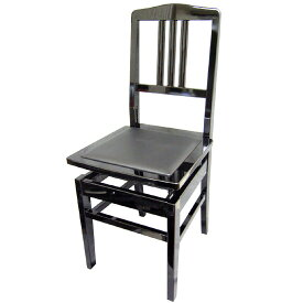 在庫あり【送料無料】日本製:ピアノ椅子 背もたれ付きタイプ トムソン椅子:NO.5BLK(黒)-New