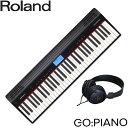 在庫あり【送料無料】ローランド 61鍵盤 電子キーボード GO PIANO/ ゴー:ピアノ (ステレオヘッドフォン付き)Roland…