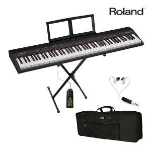 【送料無料】軽い 88鍵盤 電子キーボード Roland GO PIANO 88 ゴー ピアノ (X型キーボードスタンド/キーボードケースセット)